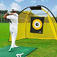 PodiuMax 9x7ft Golf Hitting Net with Target Sheet and Carrying Bag - Durable Golf Driving Net, Perfect for Golf Practice Indoor | Outdoor, Portable