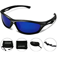 COSVER Mens Polarized Sports Sunglasses for Men Women