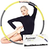 Auoxer Fitness Exercise Weighted Hoops, Lose Weight Fast by Fun Way to Workout, Fat Burning Healthy Model Sports Life…