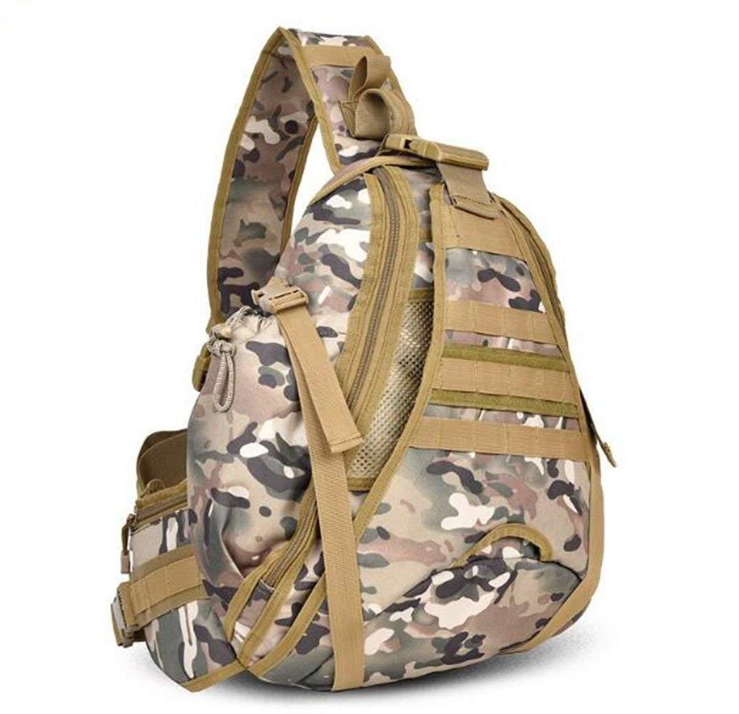 Lounayy Outdoor Computer 14 Zoll Wandern Tasche Reise Stylisch Mode Brust Tasche Reiten Messenger Bag Armee Fan Männer Nner Tasche (Farbe   Cp-Tarnung, Größe   One Größe)