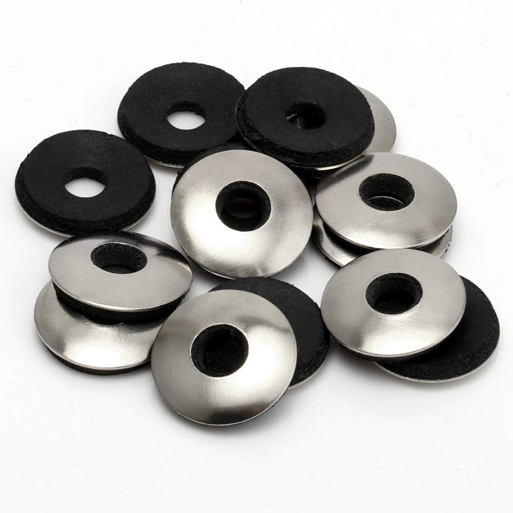 100 PCS #8 x 1//2 Neoprene EPDM Bonded Sealing Washers Stainless Steel 18-8