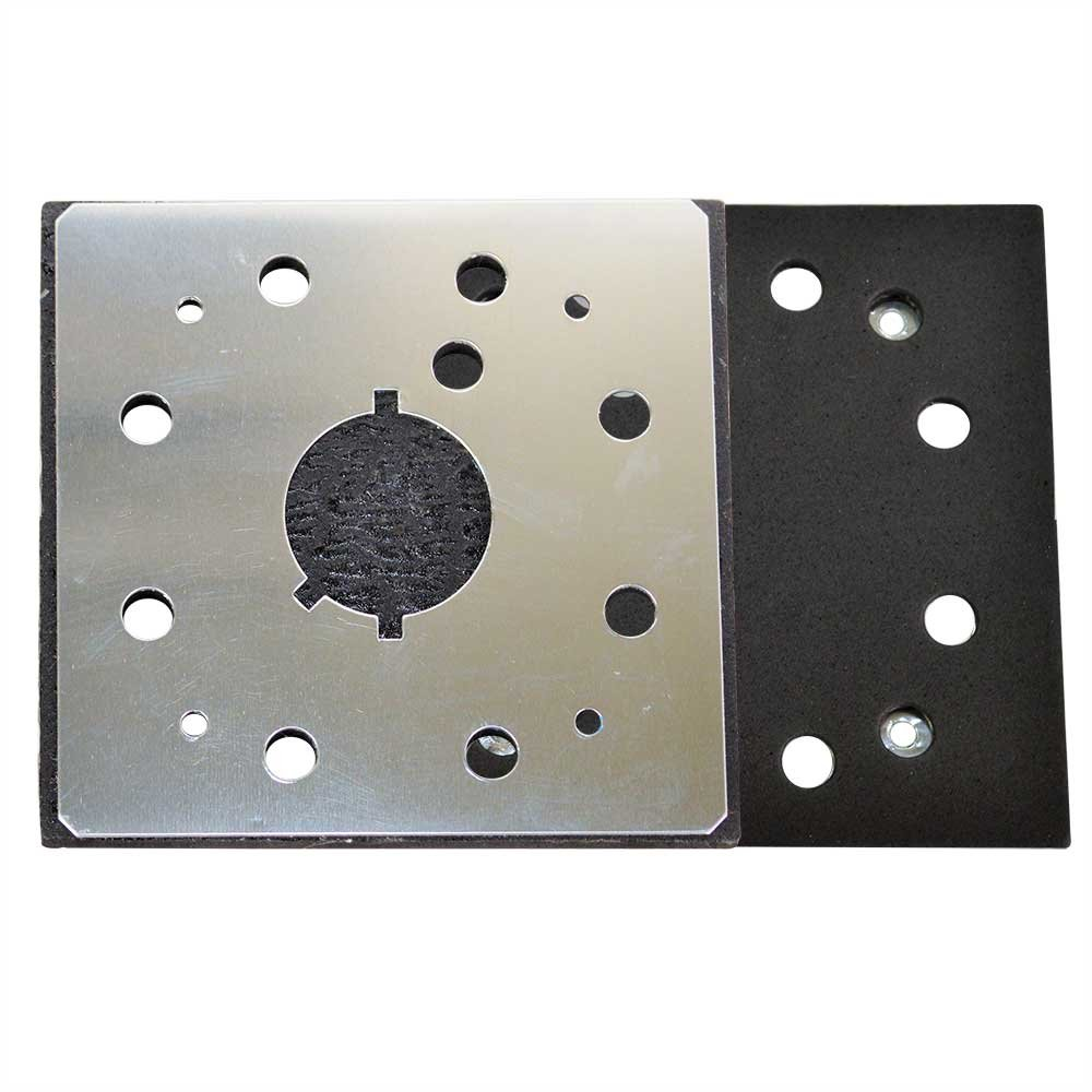 Superior Pads and Abrasives SPD18 1/4 Sheet, 8 Hole Stick on Square Sanding Pad replaces Dewalt 151280-00, 151284-00SV