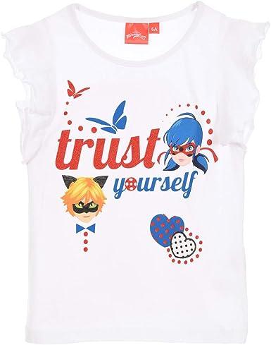 Miraculous - Camiseta para niña Blanco Blanco 4 Años: Amazon.es: Ropa y accesorios
