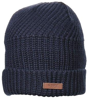 9fb0a08a340 Barts Hats Macky Beanie Hat - Navy Blue 1-Size  Amazon.co.uk  Clothing