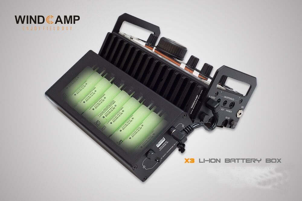 WINDCAMP X3 18650 LI-ION BATTERY BOX FOR ELECRAFT KX3 TRANSCEIVER HAM Black+BAG by Windcamp (Image #8)