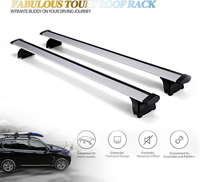For Cars With Raised Type Running Rails Years 04-10 The Urban Company Roof Bars to Fit Peugeot 407 SW 5 Door