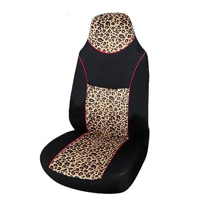 Four Seasons Universal Leopard Print Car Seat Cover Set Of 1