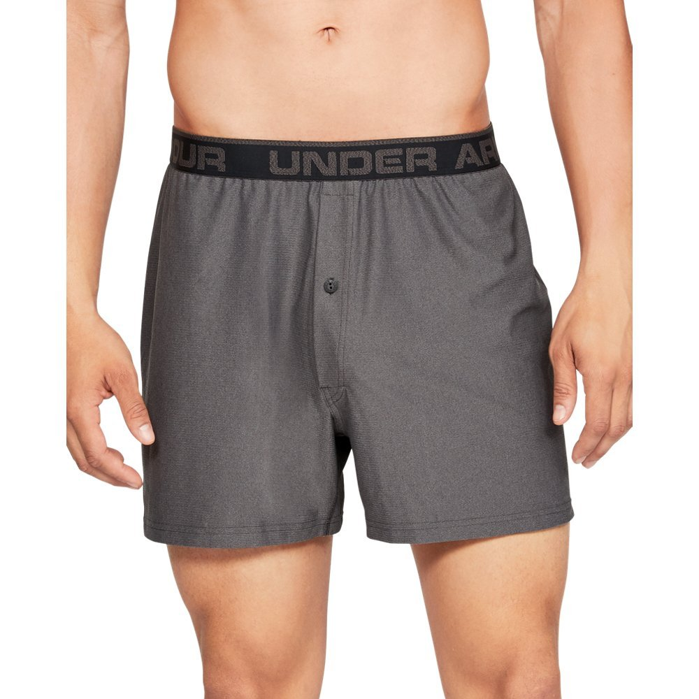 Under Armour Men's Tech Mesh Boxer, Charcoal Medium Heat (019)/Black, Large by Under Armour
