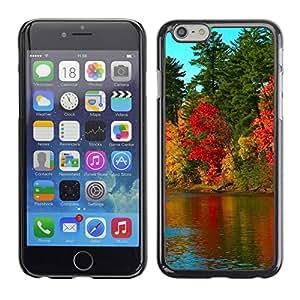 "For Apple Iphone 6 Plus / 6S Plus ( 5.5 ) , S-type Naturaleza Hermosa Forrest Verde 79"" - Arte & diseño plástico duro Fundas Cover Cubre Hard Case Cover"