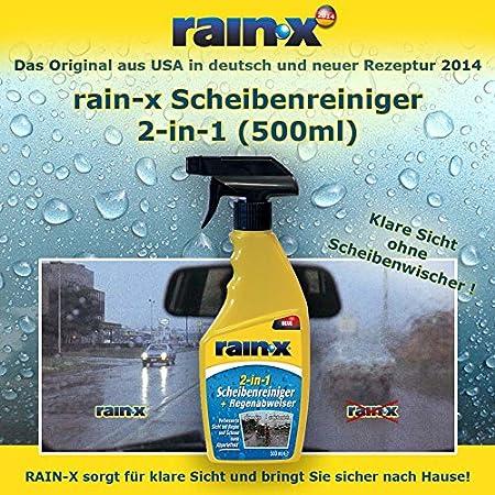 Rain-x parabrisas Limpiador 2 en 1 500 ml & Rainx antiniebla ...