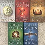 FIVE-BOOK GEORGE MARTIN SET: THRONES, KINGS, SWORDS, CROWS, DRAGONS (Song of Ice & Fire)