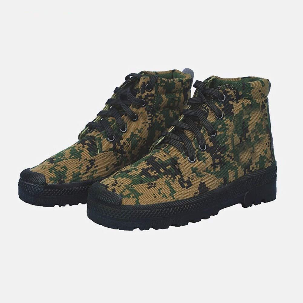 high Labor Insurance Rubber Mens Shoes,b,42 RcnryCasual Canvas Shoes Camouflage for Training wear Resistant and Anti Slip
