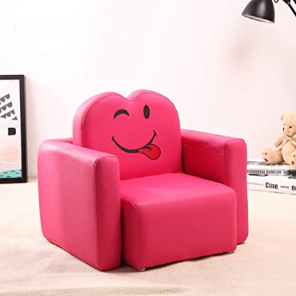 Vu0026K Mini Kid Sofa,Smile Face Child Sofa Chair Cartoon Girl Armrest Couch  For Childrenu0027s
