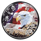 American Made Patriotic Eagle Large Dial Thermometer Round USA