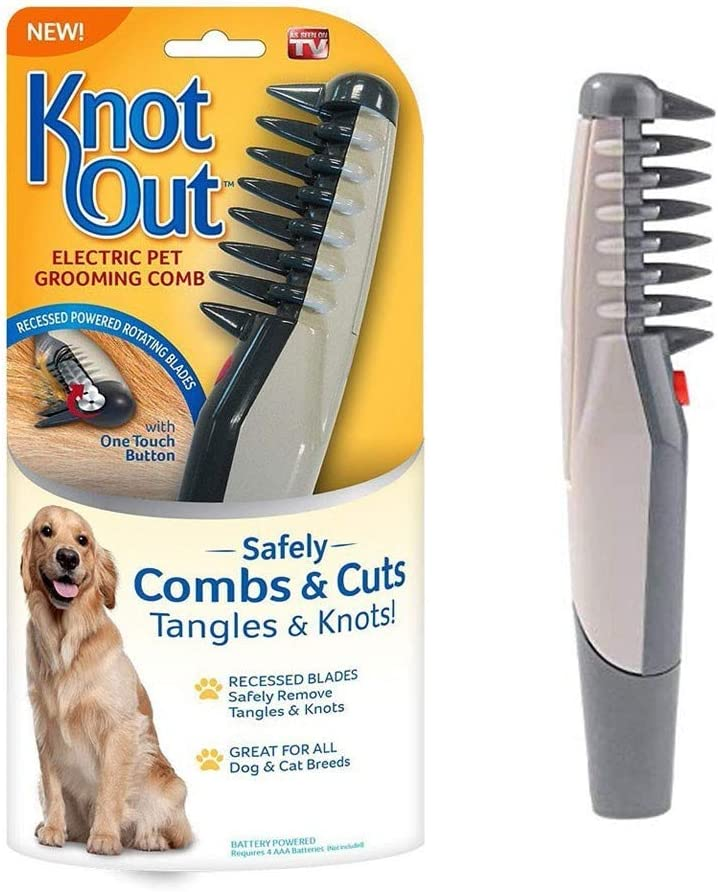 Rabbits Beauty Tools Longhaired Cats QQY Electric Pet Grooming Comb Remove Knot Out Electric Pet Dog Cat Hair Trimmer Safe Grooming Accessories For Dogs