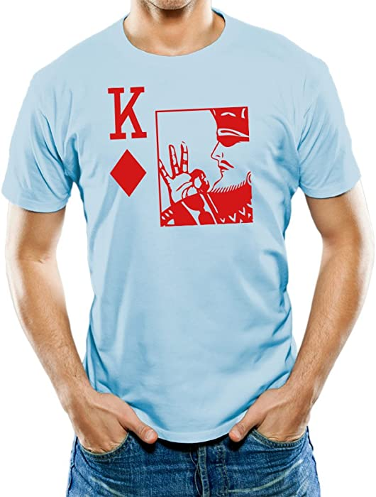 a11af9e840ec Universal Apparel Men s King Of Diamonds Kappa Alpha T-Shirt Small Light  Blue