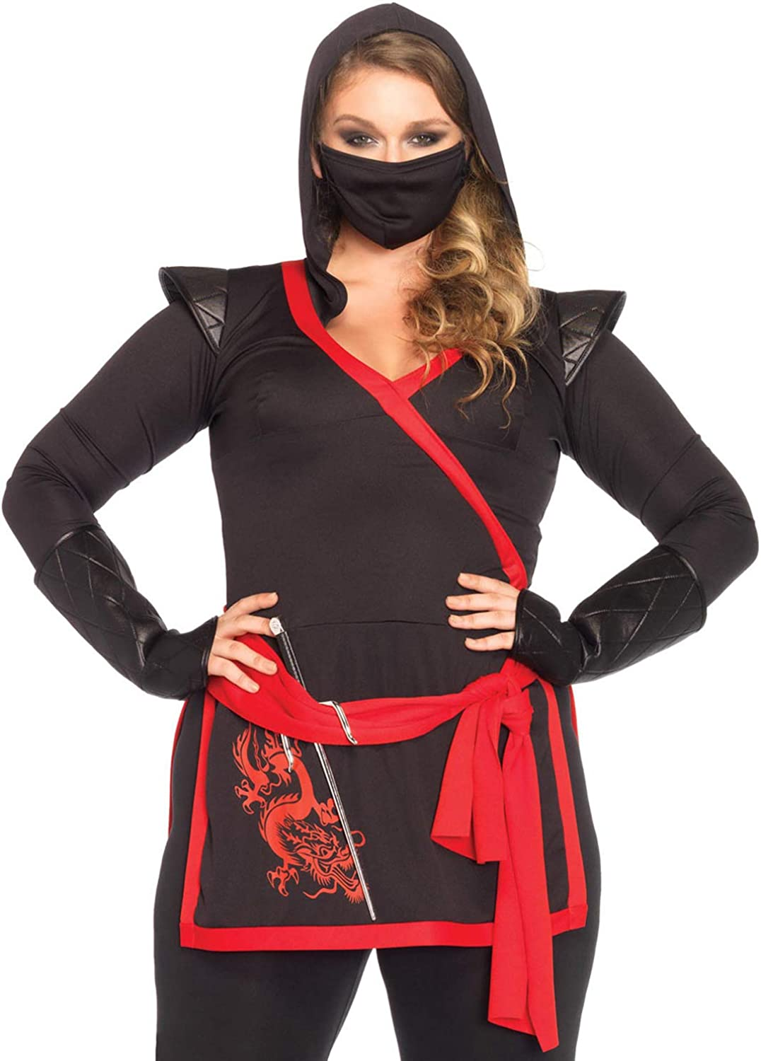 Amazon.com: Leg Avenue Womens Plus-Size 4 Piece Ninja ...