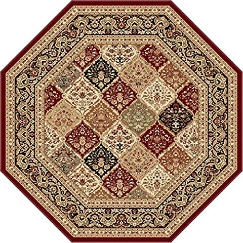 Universal Rugs Traditional Oriental 7 ft. 10 in. Octagon Area Rug , Red (Octagon Shape Rugs)
