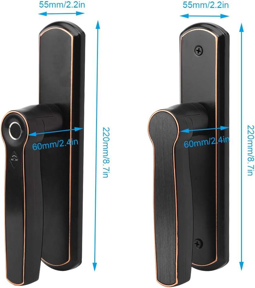 Fingerprint Smart Lock Fingerprint Door Lock Support Fingerprint Unlock Password Unlock Key Unlock Electronic Bluetooth Door Lock Office Bluetooth Unlock for Home