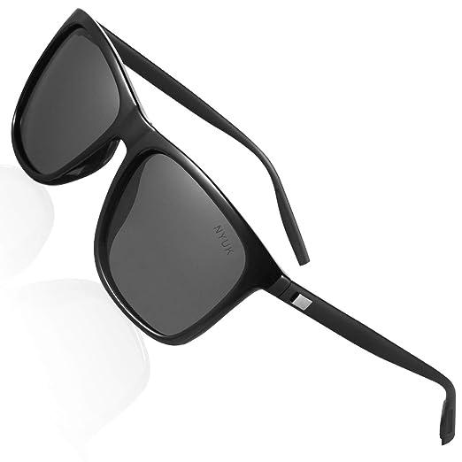 6b454bb31c40 Sunglasses for Men Retro Wayfarer Womens Polarized Uv Protection Mirrored  Dark Lens Driving Sun Glasses
