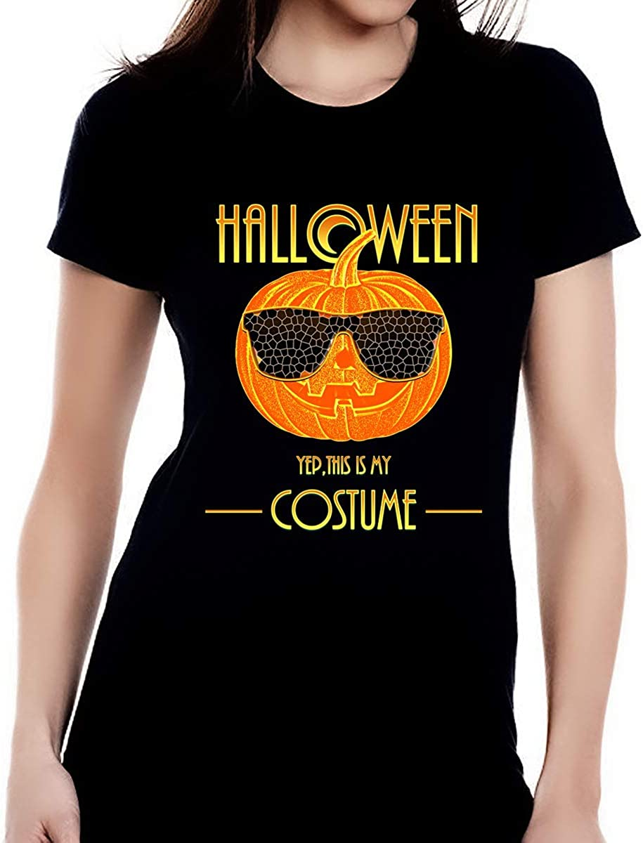 Amazon Com Fire Fit Designs Halloween Shirt Halloween Shirts For Women Funny Womens For Her Solid Black M Clothing
