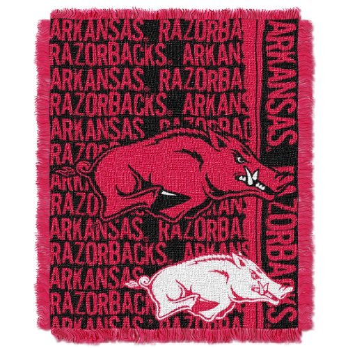 The Northwest Company Officially Licensed NCAA Arkansas Razorbacks Double Play Jacquard Throw Blanket, 48