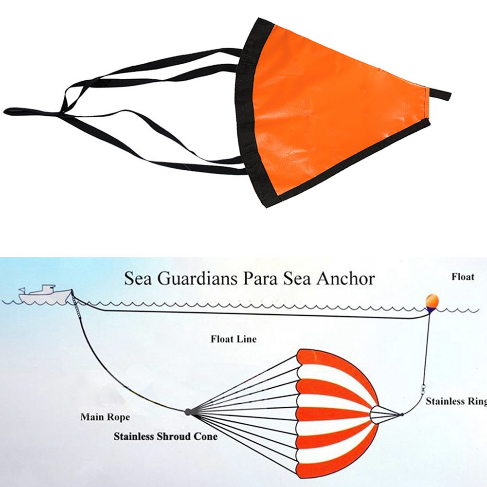 Drift Anchor Tow Rope Float Suits for Fishing Canoe RONSHIN Boat Anchor Drogue Set