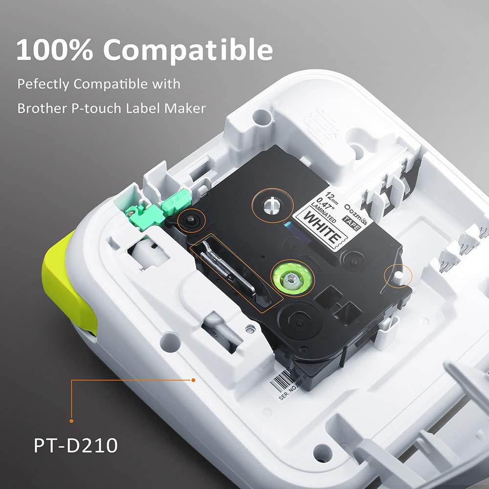 D400//VP D450 P700 -2430 3er Laminiert Etikettenband Kompatibel f/ür Brother TZe-241// Schwarz auf Wei/ß //18mm x 8m //Geeignet f/ür Schriftband Brother P-Touch 1830//VP D600//VP
