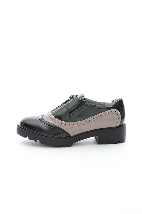 Luciano Barachini - Mocasines para niña Nero/Tortora/Verde: Amazon.es: Zapatos y complementos