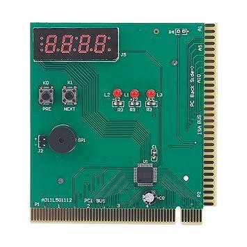 Tosuny Tarjeta de 4 Dígitos de la Placa Madre PCI PC Analizador de ...