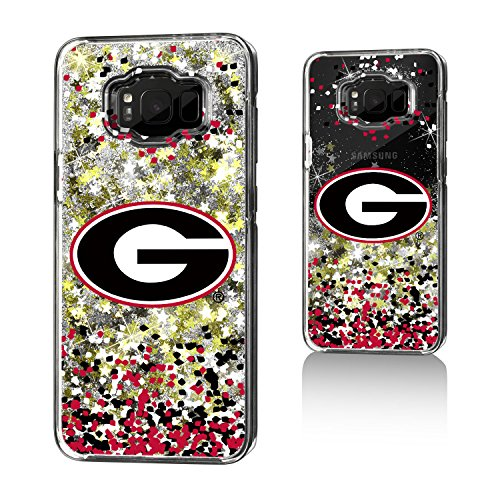 Georgia Bulldogs Gold Glitter Case for the Galaxy S8 Plus (Gold Georgia Bulldogs Football)