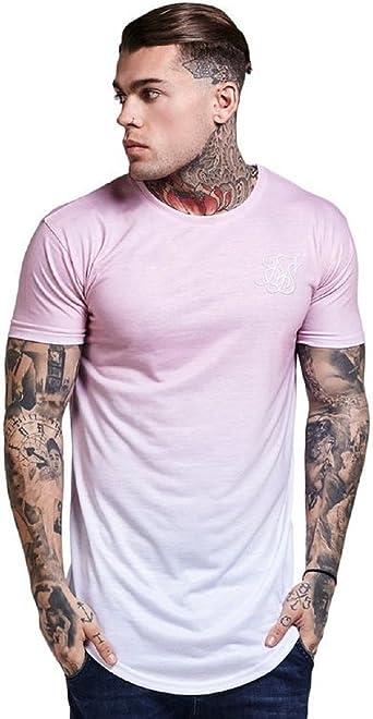 Sik Silk - Camiseta - para Hombre Rosa Rosa L: Amazon.es: Ropa y accesorios