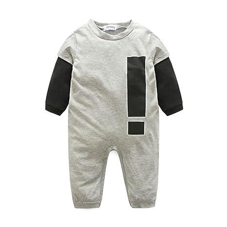 Toddler Bebé Pelele de Invierno Otoño, doubleer manga larga algodón Mono Casual Mono para 0