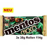 Mentos Choco & Mint Chewy Caramels 3 x 38g Rollen 114g