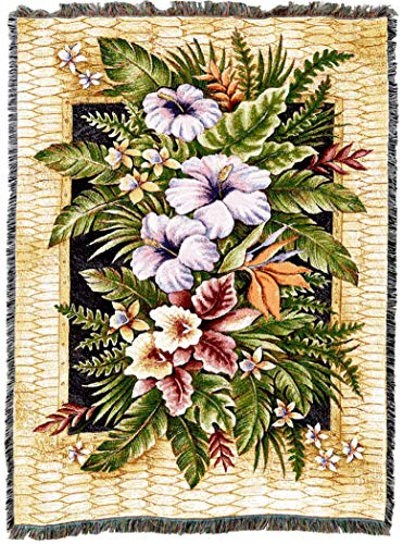 Pure Country Weavers | Tropical Flowers Woven