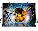 LYLYCTY 7x5ft Time Machine Backdrop Science Fiction Time Machine Photography Background and Science Fiction Theme Party Background Props LYP032