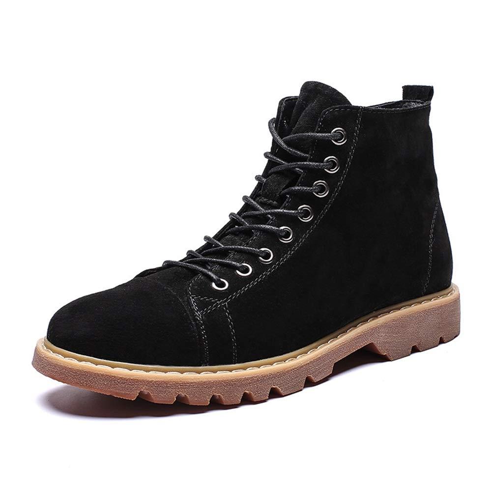 Herrenstiefel, Herbst Winter Martin Stiefel Britische Outdoor-Werkzeugstiefel Outdoor High-Top High Schuhe Plus Samt Wanderschuhe XUE (Farbe   EIN, Größe   43)