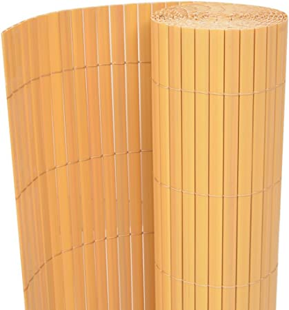 vidaXL Recinzione in Salice Naturale da Giardino 500x100 cm Recinzione a Canne