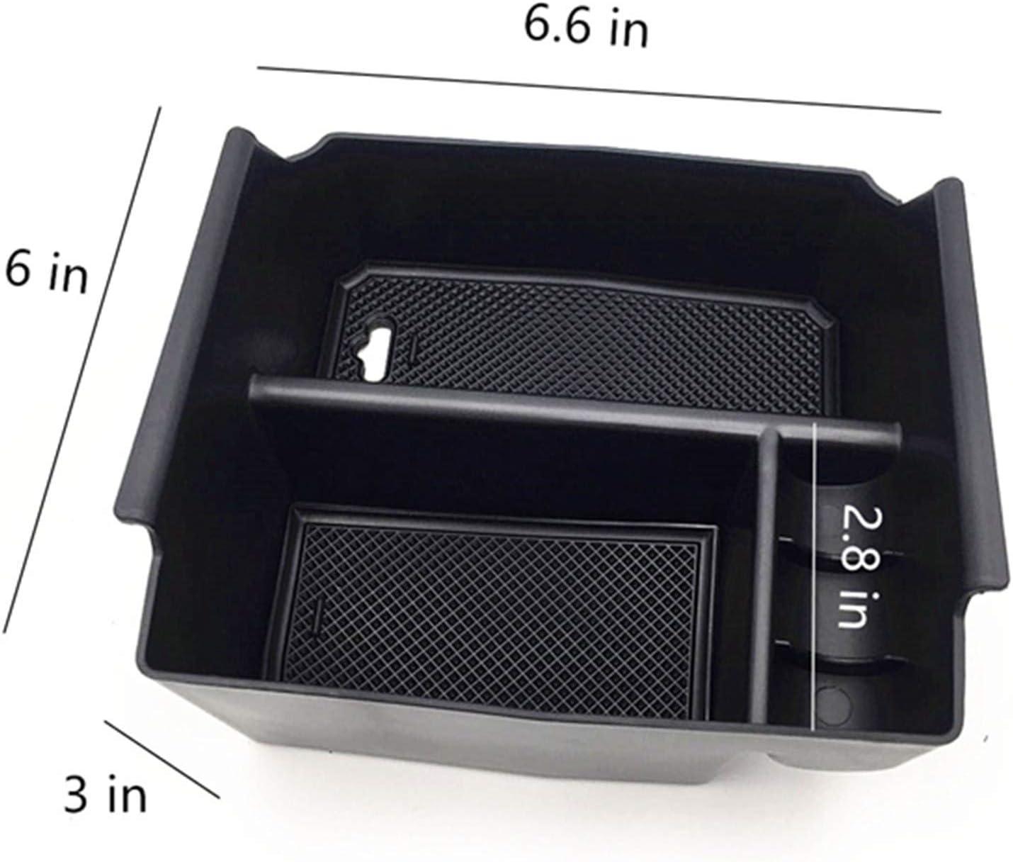 EVTIME for Jeep Wrangler JK and JKU Accessories 2011-2018 Center Console Organizer Tray