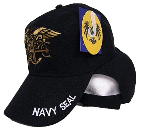 RFCO Deluxe U.S. Naval Navy USN Seal Team Warfare Trident Insignia Ball Cap  HAT Cover 4d78f31295b2