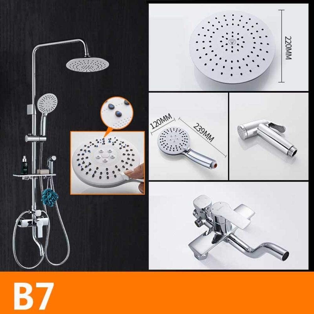 ZH Shower Set extensible sets baño mampara Pistola de refuerzo de ...