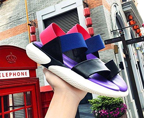 di UK5 colori 1 US7 mischiati studenteschi femminili 5 KUKI CN38 5 sandali opzionali Sandali due selvatici EU38 6q4Fw
