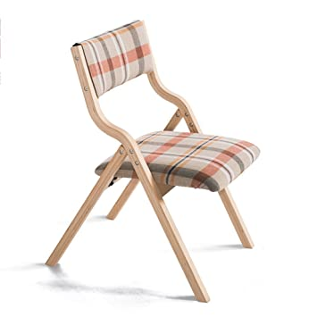 Amazon.com: bar stool Collapsible Solid Wood Chair ...