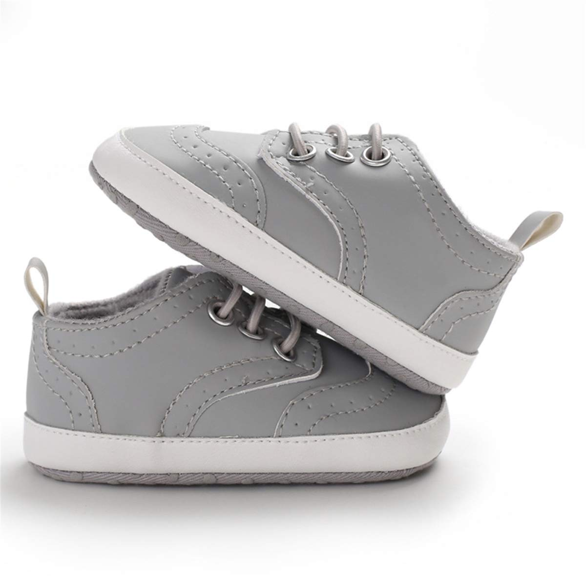 Baby Boys Girls Shoes Soft Sole PU Leather Moccasins Lace-Up Sneaker Infant Toddler First Walkers Crib Outdoor Dress Shoes