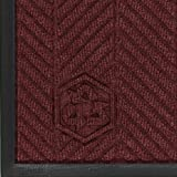 M+A Matting 2240 Waterhog Classic ECO Elite PET Polyester Entrance Indoor Floor Mat, SBR Rubber Backing, 3' Length x 2' Width, 3/8'' Thick, Maroon