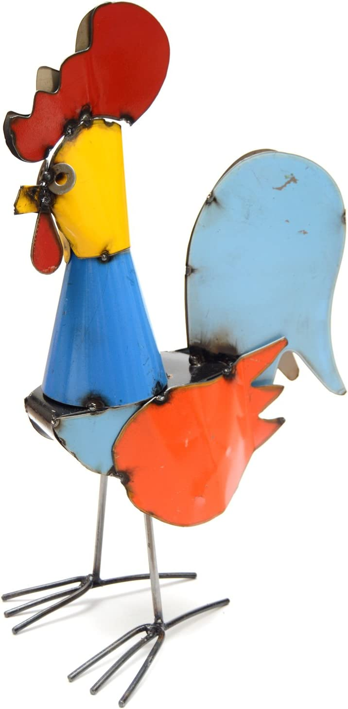 Rustic Arrow Tonito Rooster for Decor, 10 by 6.5 by 14-Inch, Multicolor