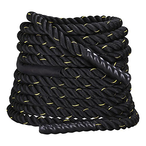 Yaheetech 1.5″/2″ Exercise Workout Strength Training Core Strength Undulation Polyester Battle Rope