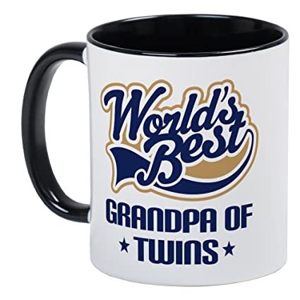 a8d01ff1 Amazon.com: CafePress Grandpa Of Twins Mug Unique Coffee Mug, Coffee Cup:  Kitchen & Dining