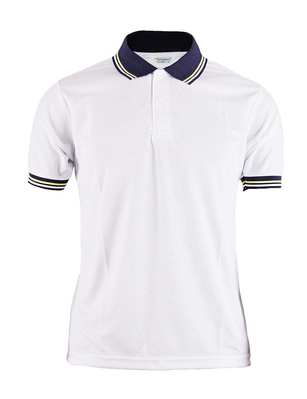 BCPOLO Manga corta Polo Blanco Sportswear para Hombre Mujer ...