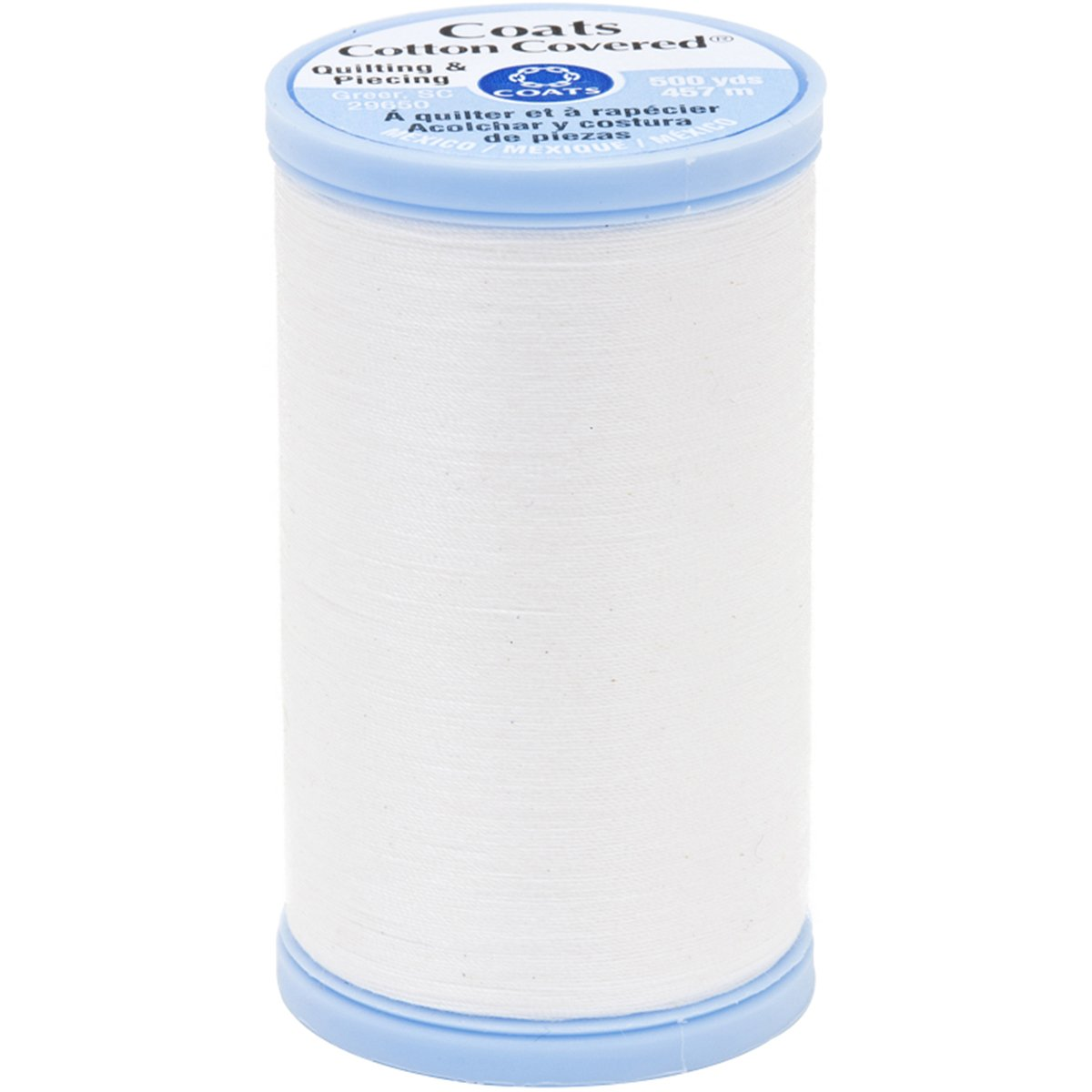 Coats Thread & Zippers Coats Cotton Covered Quilting and Piecing Thread, 500-Yard, White S926-0100